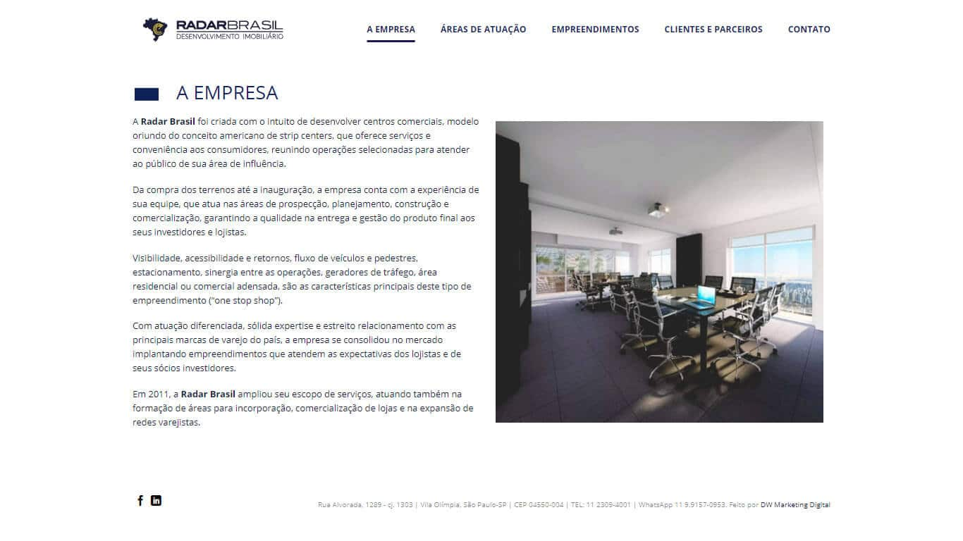 A empresa Radar Brasil
