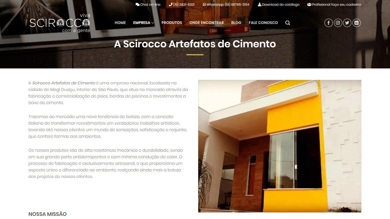 A empresa Scirocco