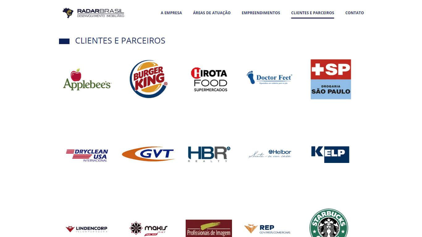 Clientes e parceiros Radar Brasil