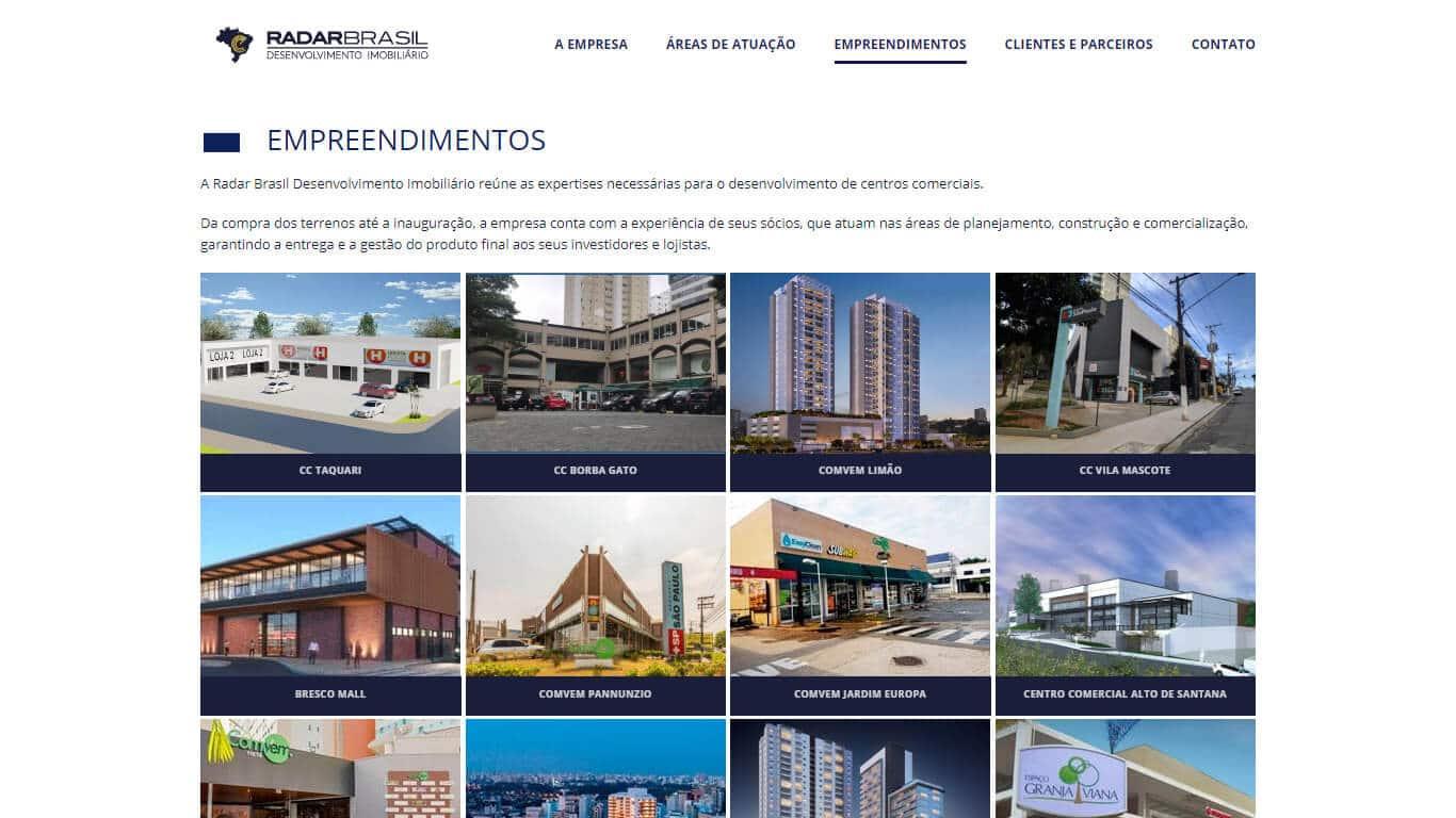 Empreendimentos Radar Brasil