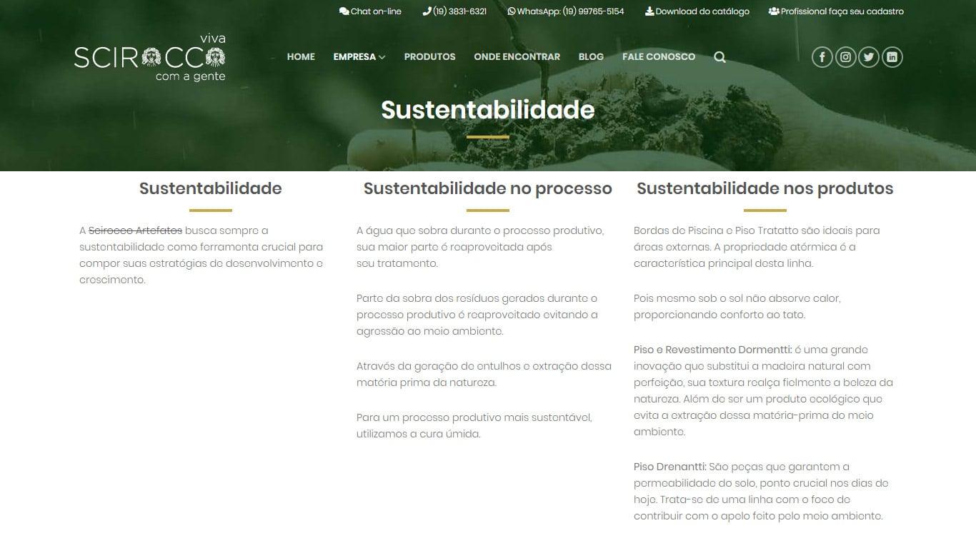 Sustentabilidade Scirocco