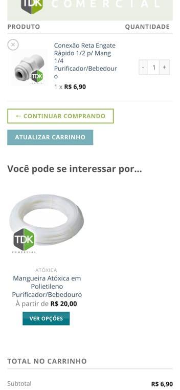 carrinho tdk comercial mobile