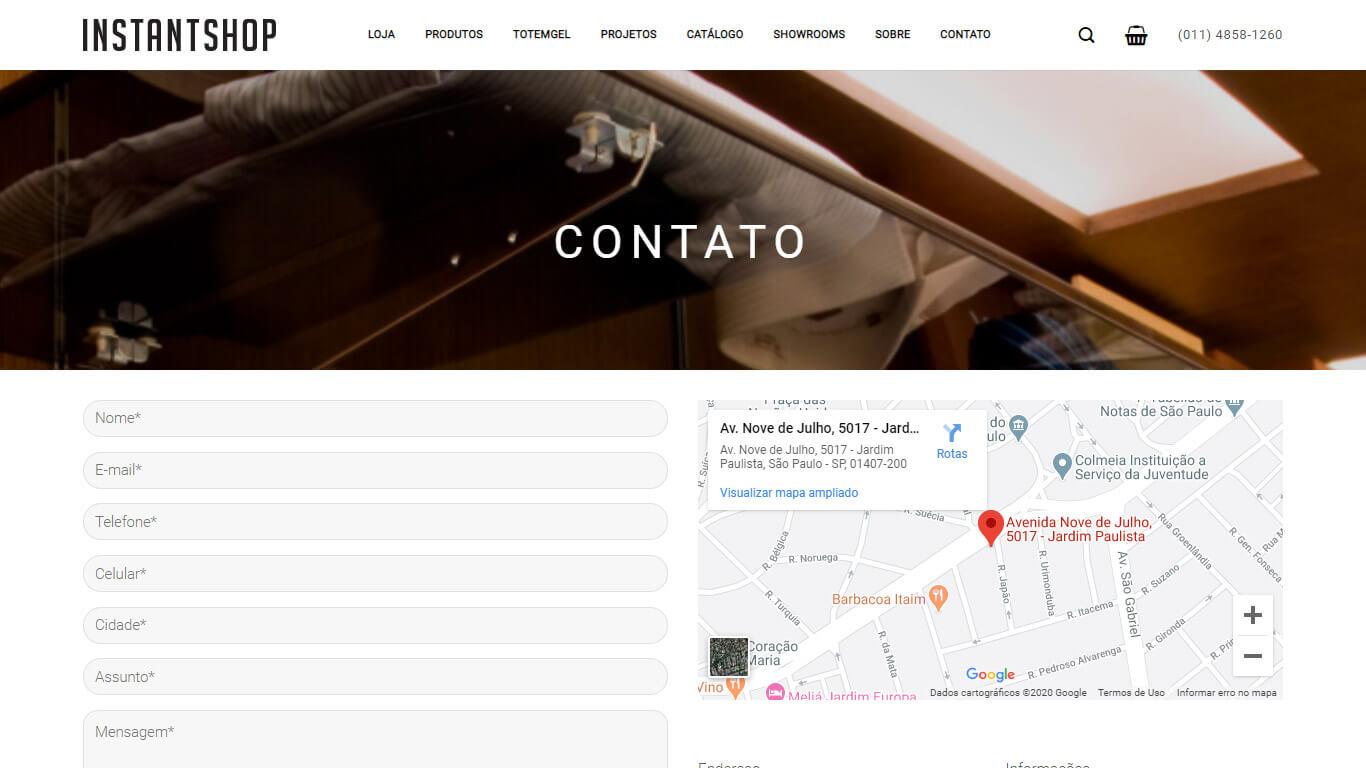 contato instant shop desktop