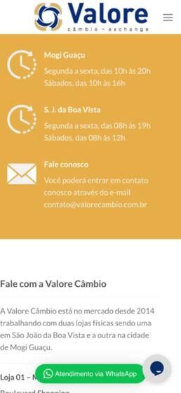 contato valore cambio mobile uai