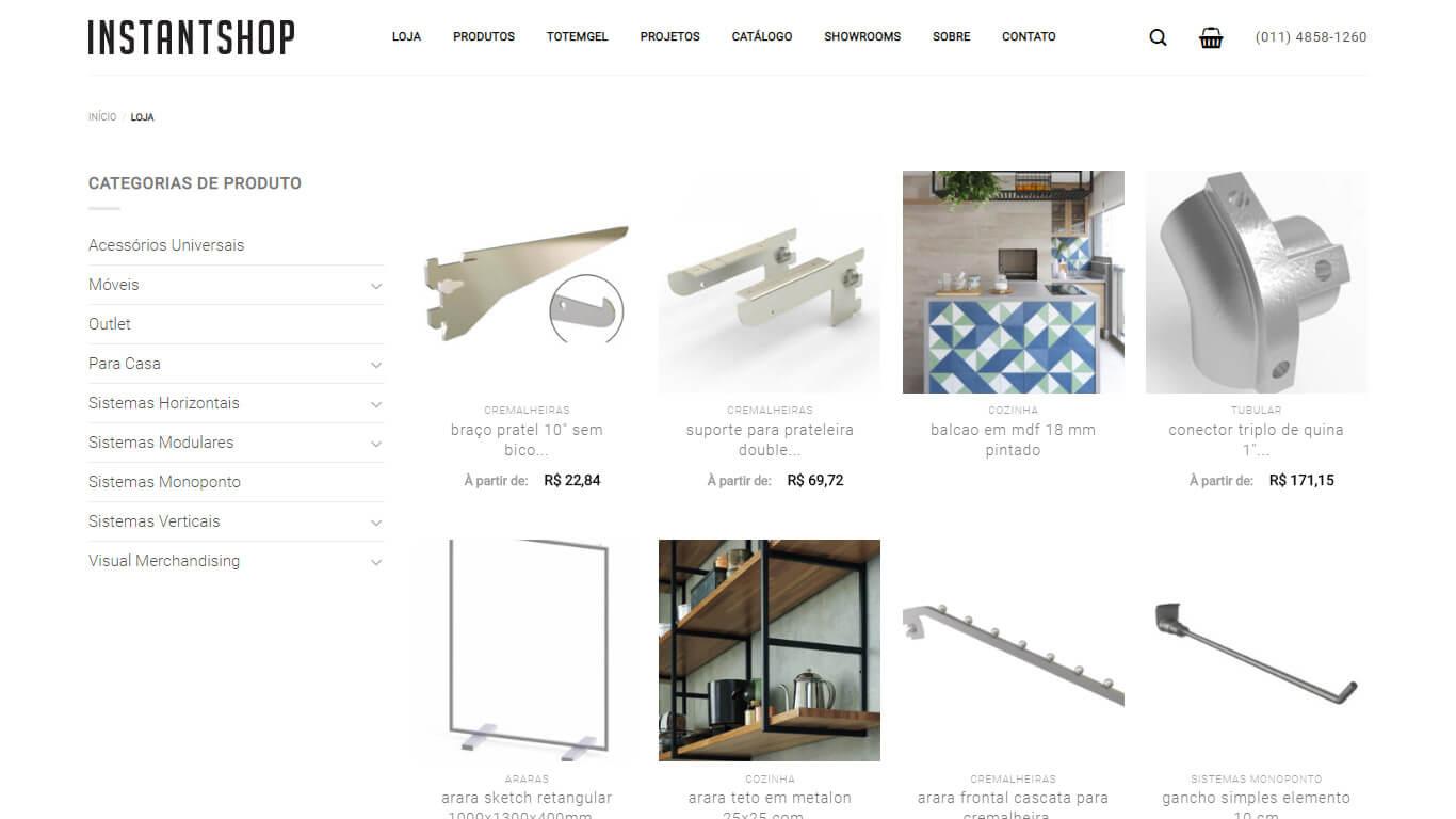 loja instant shop desktop