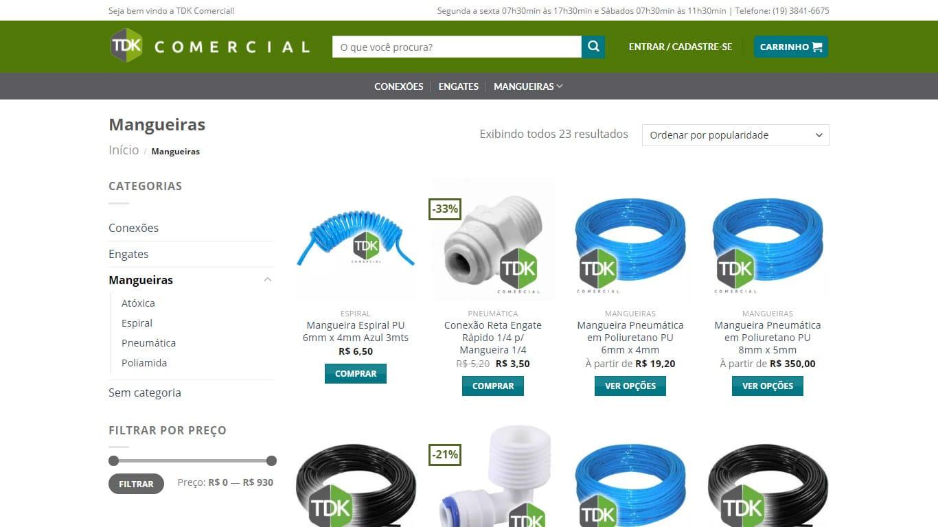 mangueiras conexao tdk comercial desktop