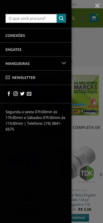 menu tdk comercial mobile