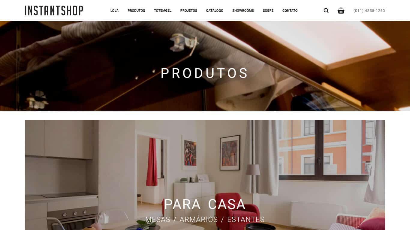 produtos instant shop desktop