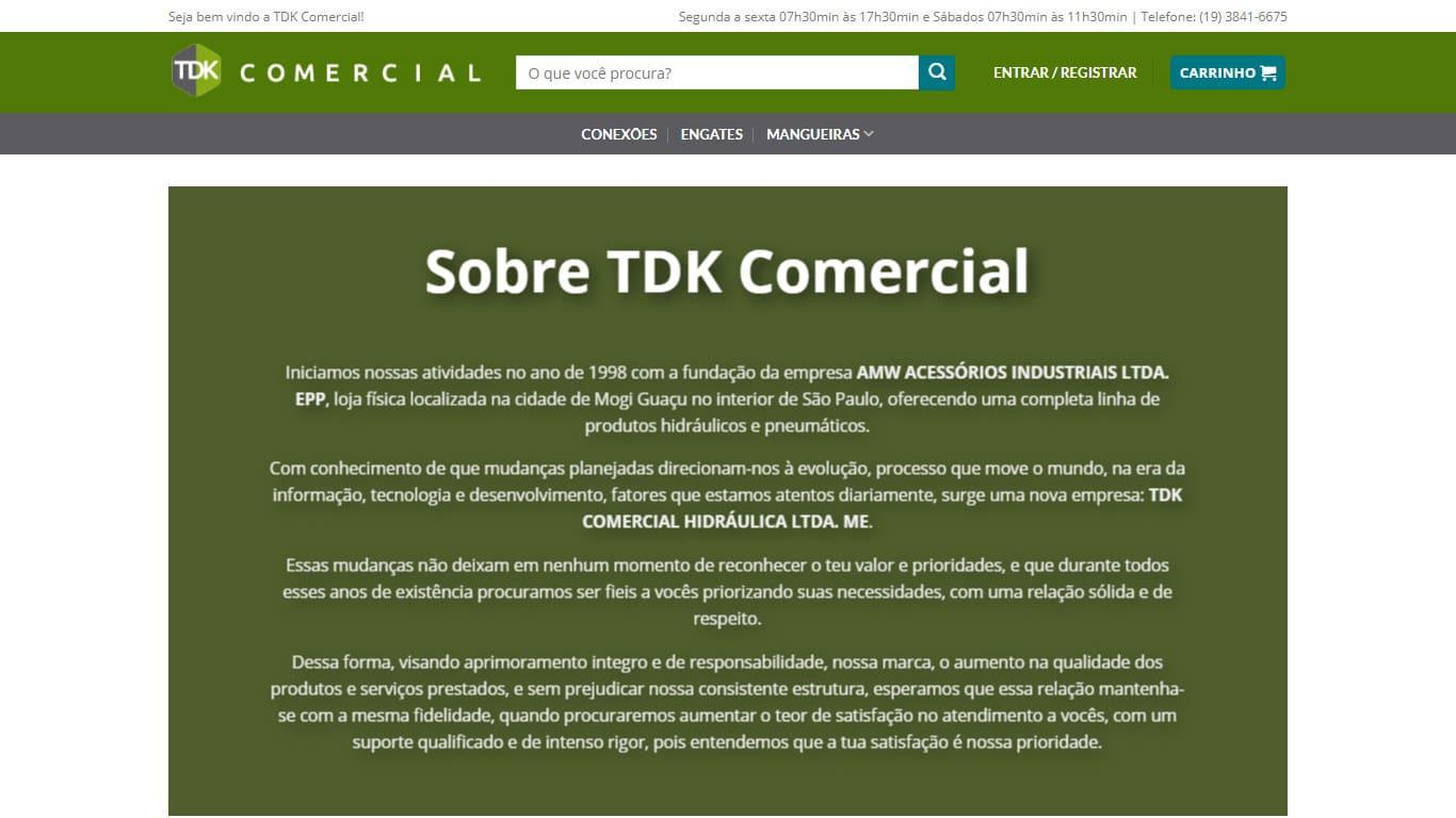quem somos conexao tdk comercial desktop