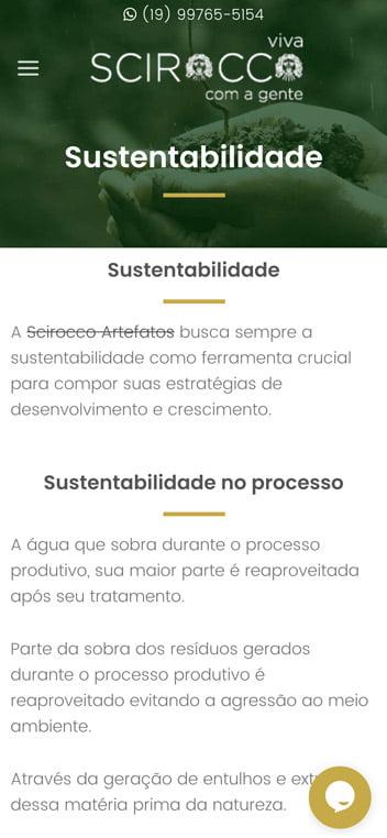 scirocco artefatos sustentabilidade mobile
