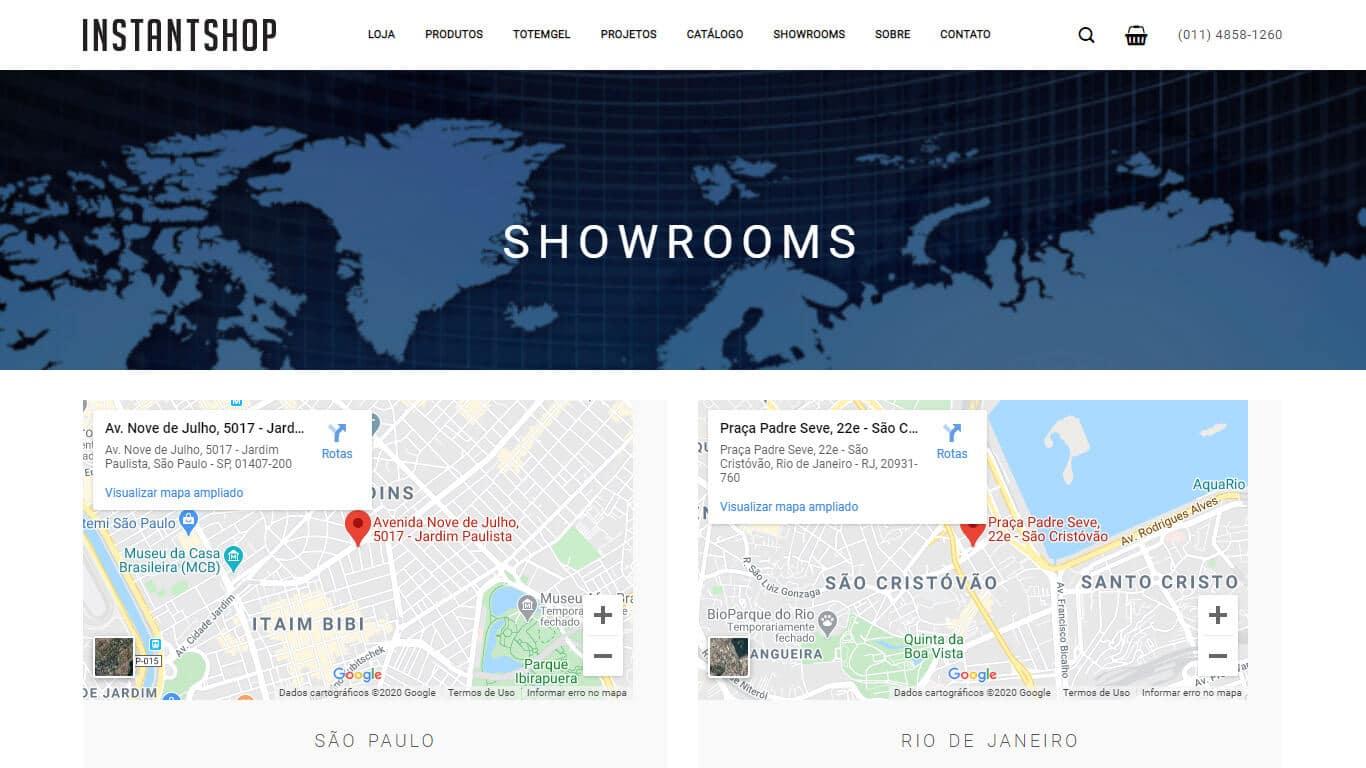 showroom instant shop desktop