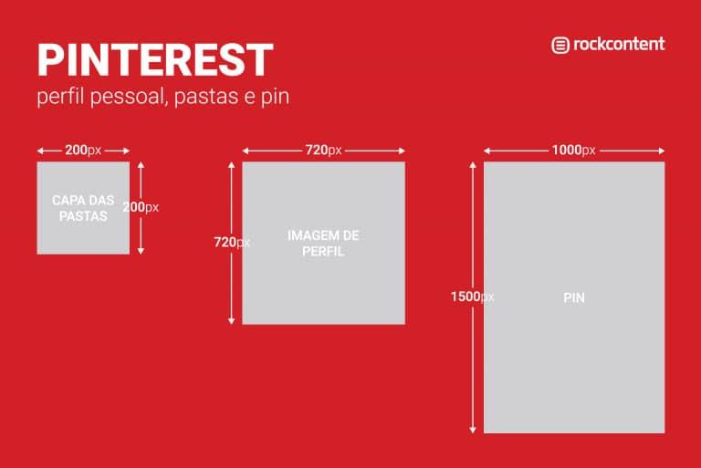 Tamanho de imagem para redes sociais - Pinterest
