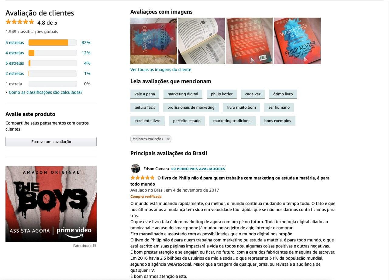 Review de produtos: a Amazon tem como forte o Review