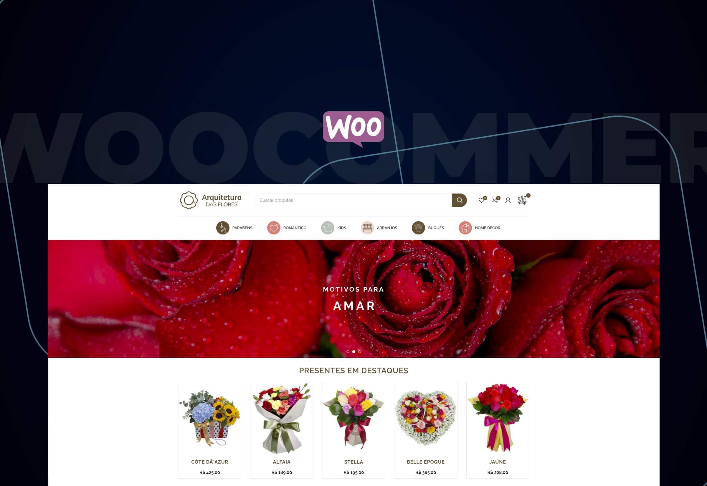 Arquitetura das Flores: a personalização que o Woocommerce oferece